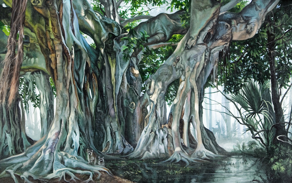 Lush banyan tropical tree print | Kevin Grass Fine Art