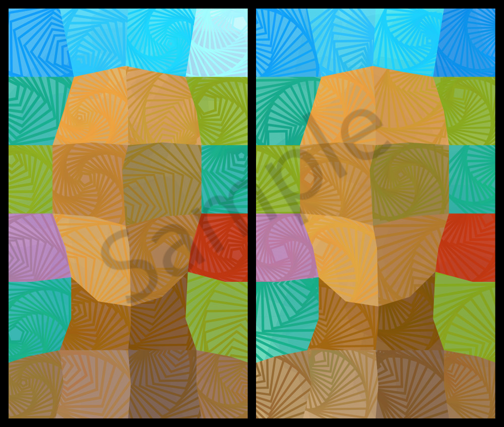 Geometric art, Vector art, Posters, Prints and canvas at BrillianceGallery.com