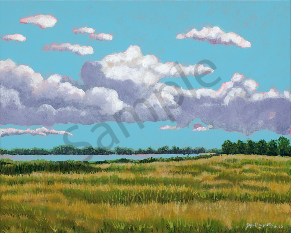 Original painting of a Texas lake scene for sale as art prints.