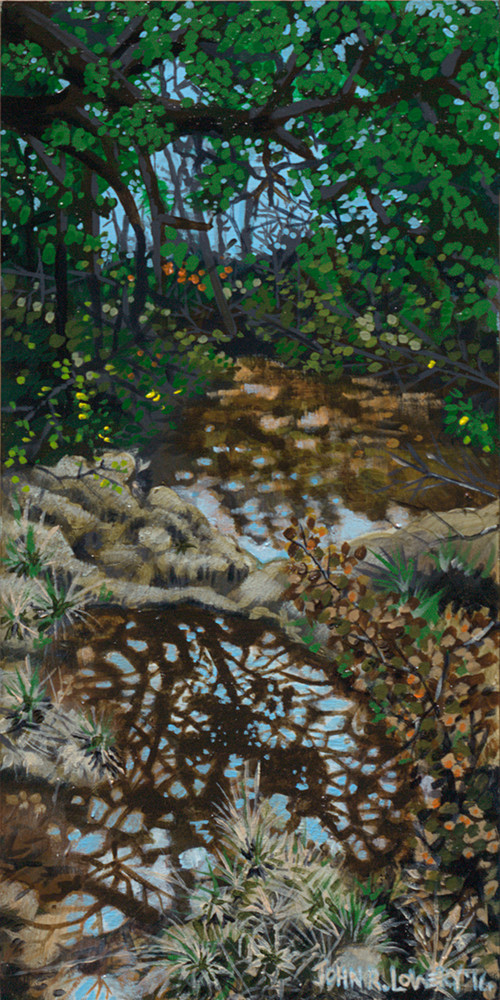Original painting on a Texas creek landscape available as art prints