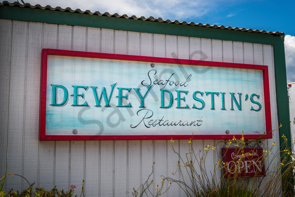 Dewey's Destin sign, fine art print for sale | Susan J Photography