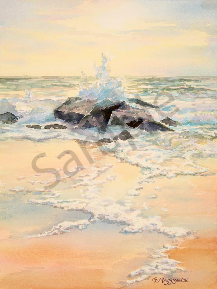 The Jetties of Porpoise Point | Watercolor Landscapes | Gordon Meggison IV