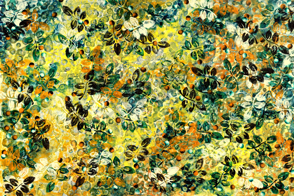 Floral abstract artwork in both oils and acrylics are for sale.Botanical themes are the focus. Janak Narayan Fine Art