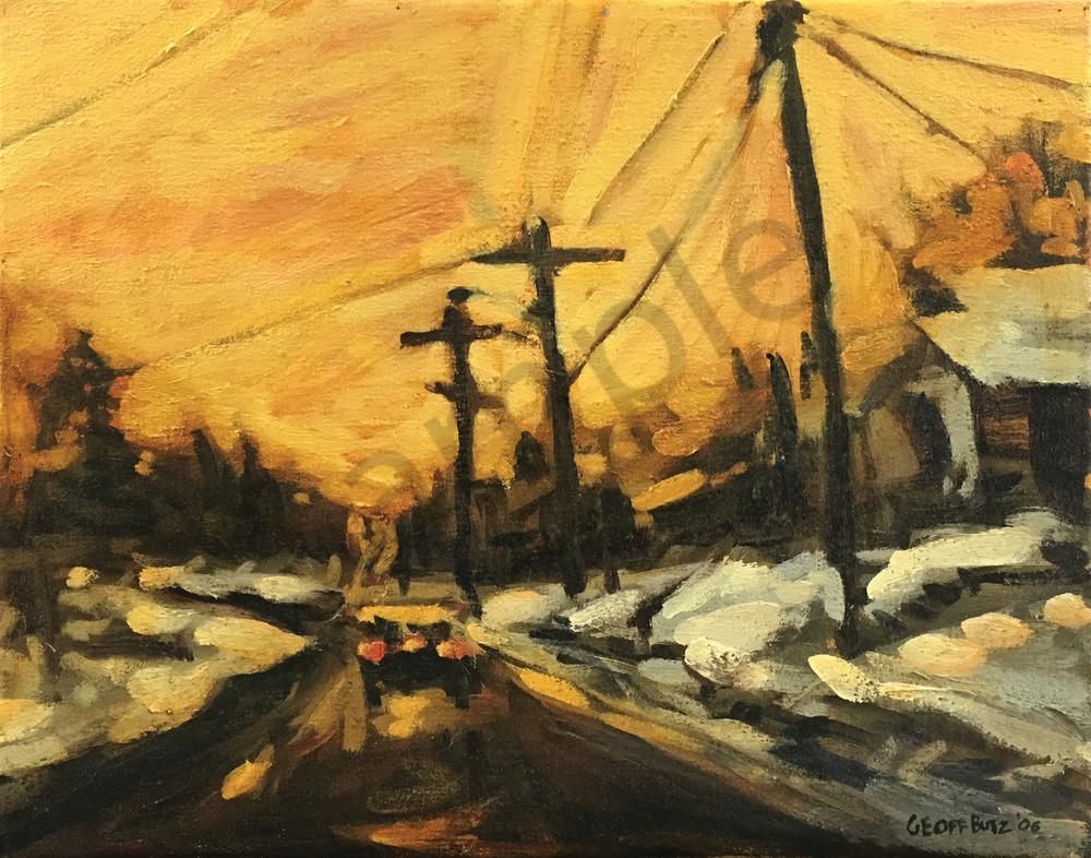 Morning Winter Sunrise On Main Art | Geoffrey Butz Art & Design Inc