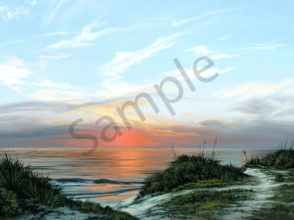 Coastal dunes & beach sunset print | Kevin Grass Fine Art