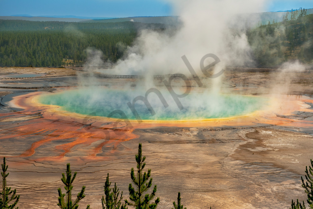 The beautiful Grand Prismatic of Yellowstone - fine art photography prints - JP Sullivan Photography, Inc.