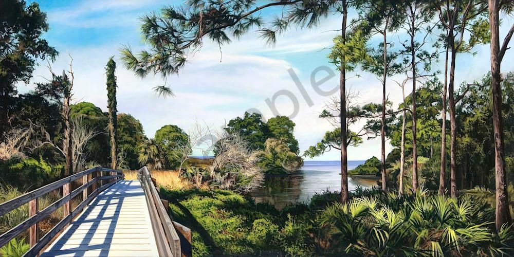 Path to the Gulf landscape print | Kevin Grass Fine Art