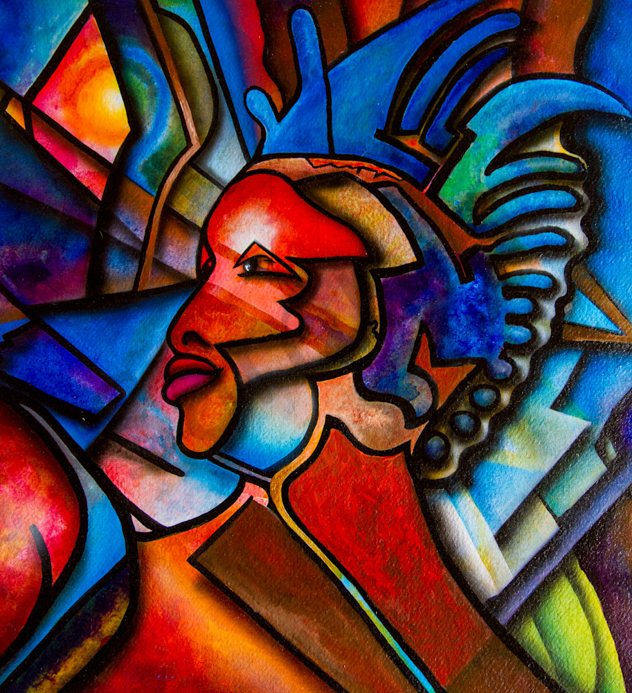 Red Woman Abstract Art | The Soap Gallery