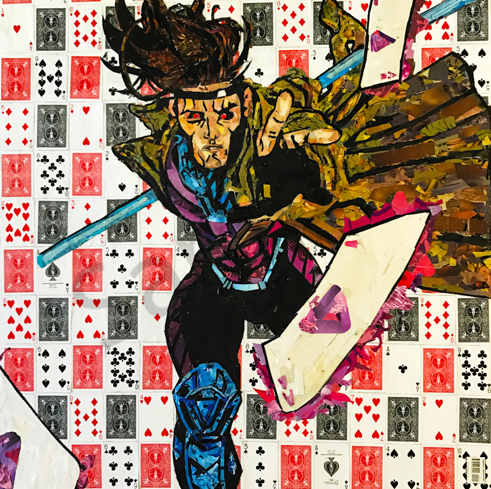 Gambit of the X-Men Collage - Original Collage Art by Soma79