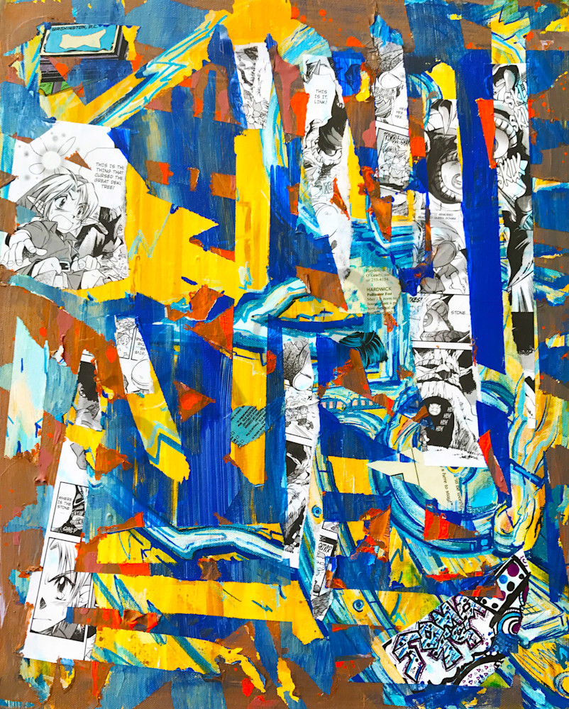 Link Lost - Original Abstract Painting by Soma79