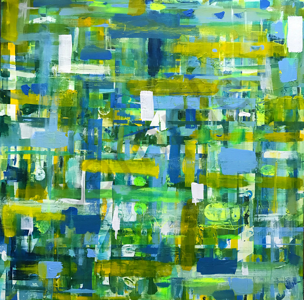 Square Springs - Original Abstract Painting by Soma79