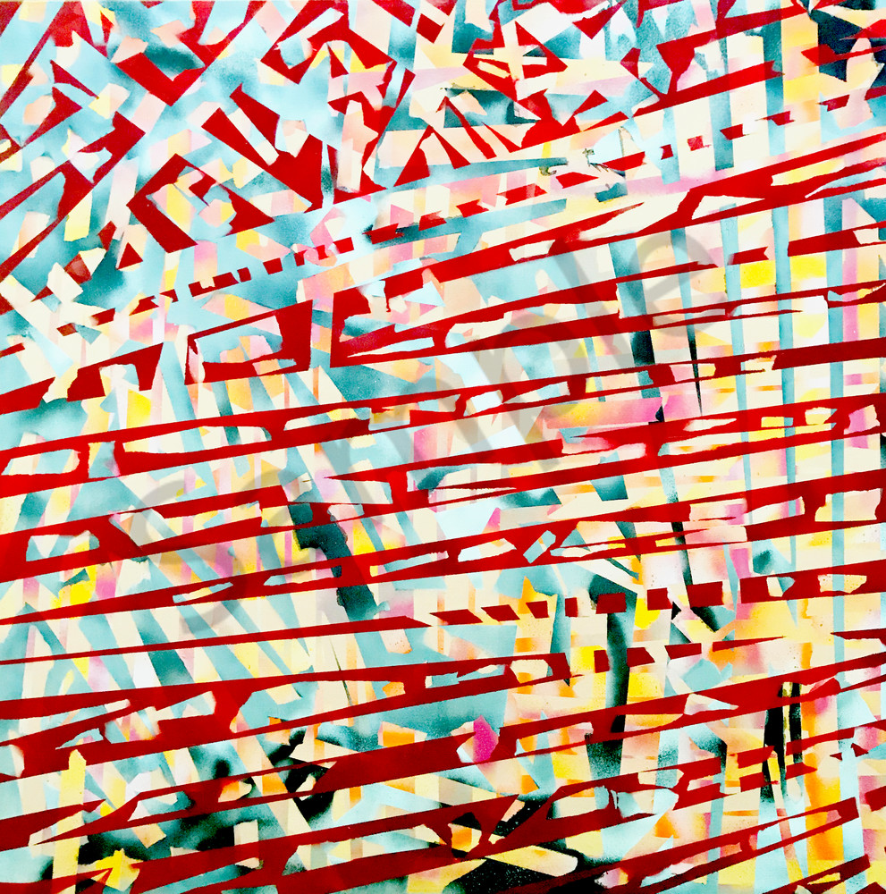 Building Bridges - Original Abstract Painting by Soma79