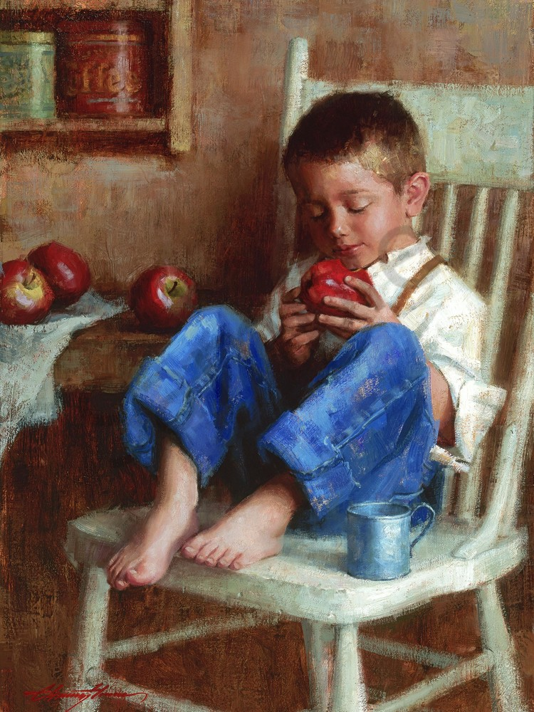 Western Boy Painting | Southwest Art | Tucson Gallery