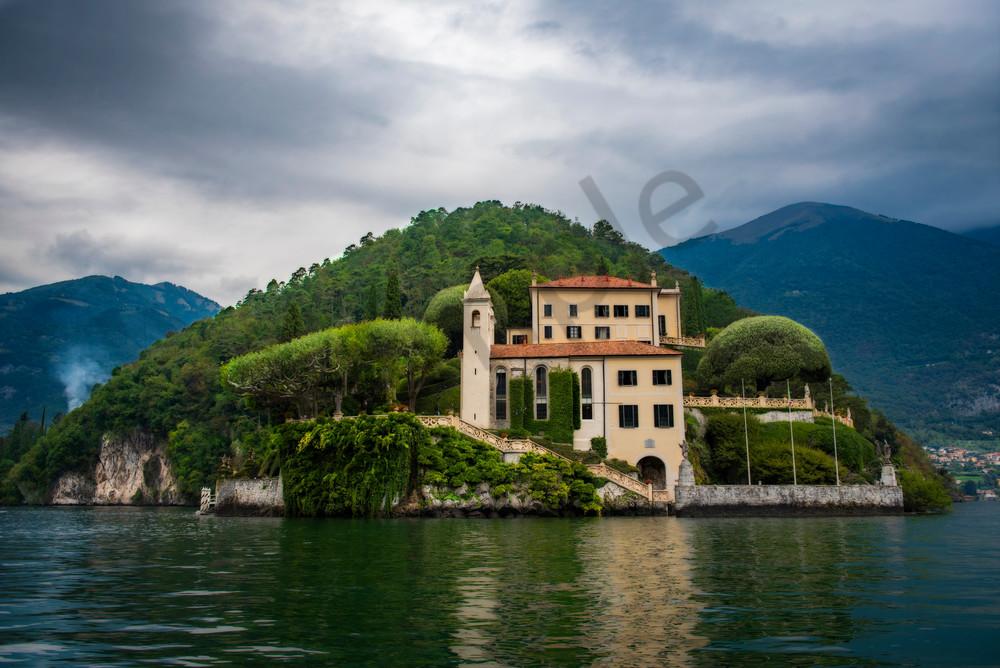 The majestic Villa del Balbianello from Lake Como Italy - fine art ptint - photography by JP Sullivan