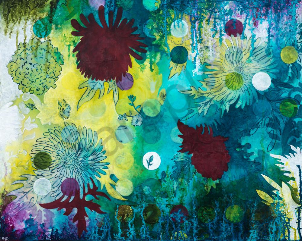 Dot Underwater Wildflowers, a fine art print by Heather Robinson