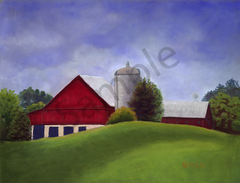 Hilly Have Barn print by Mary Anne Hill.