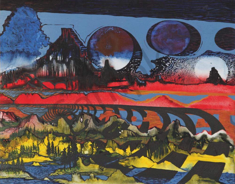 Three Dimensional Southwest Landscape Art