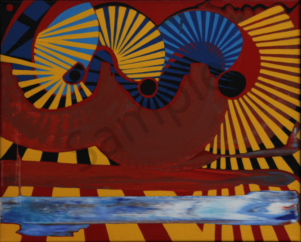 Abstract fluidity texture art print