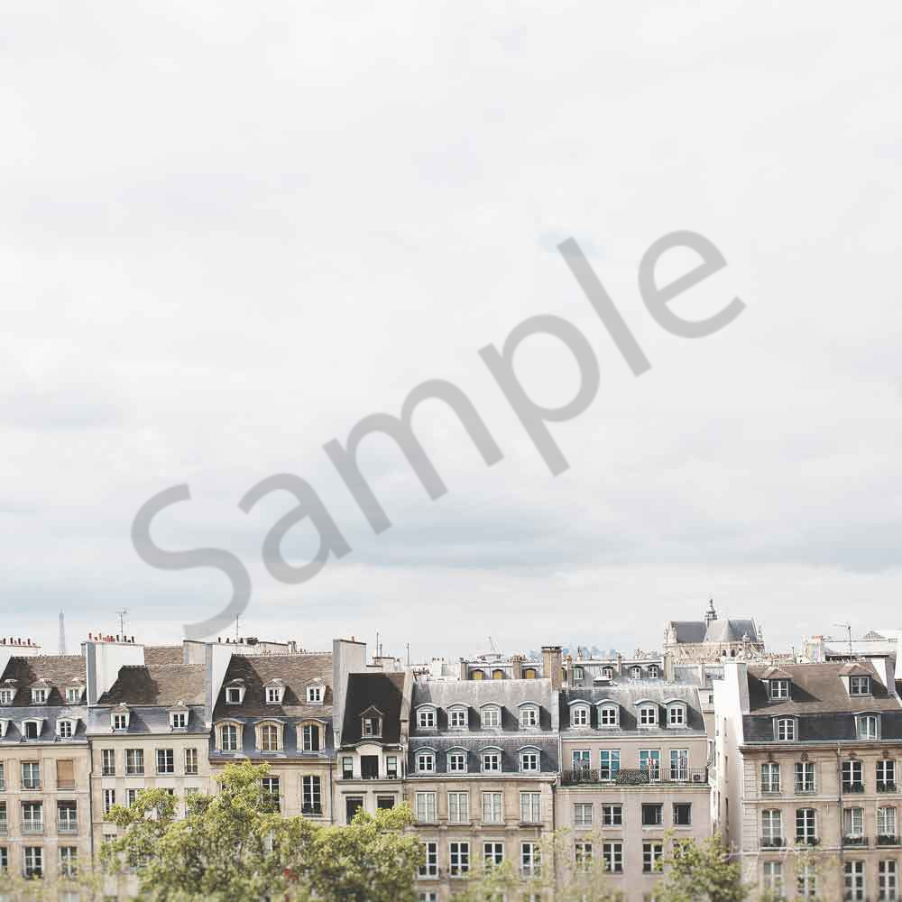 Iconic Paris Rooftops photograph by Ivy Ho for sale as Fine Art.
