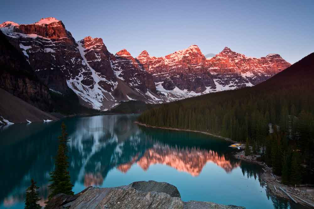 Moraine Lake sunrise photograph by Ivy Ho for sale as Fine Art