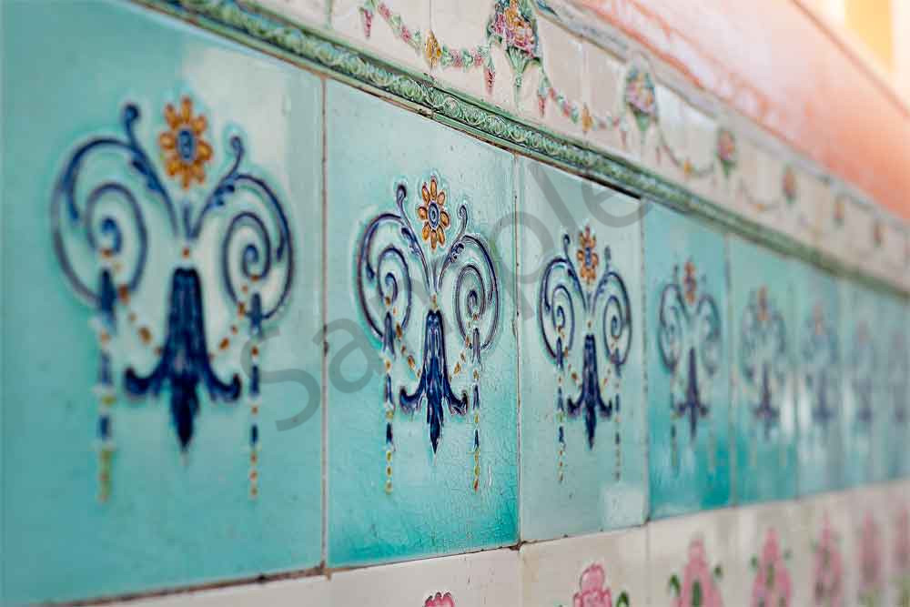 Oriental Peranakan ceramics tile photograph by Ivy Ho for sale as fine art