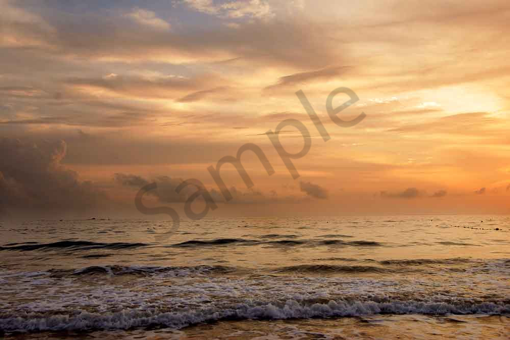 Beautiful sunset photo of the ocean by Ivy Ho as fine art print