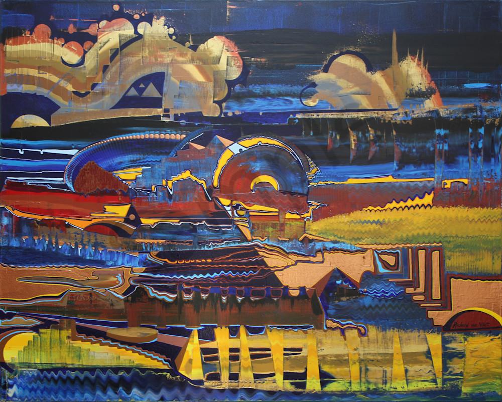 Psychedelic landscape masterpiece art