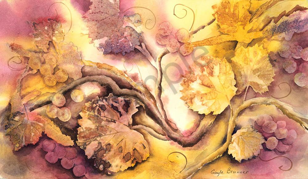 Fruit of the Vine print by Gayle Brunner.