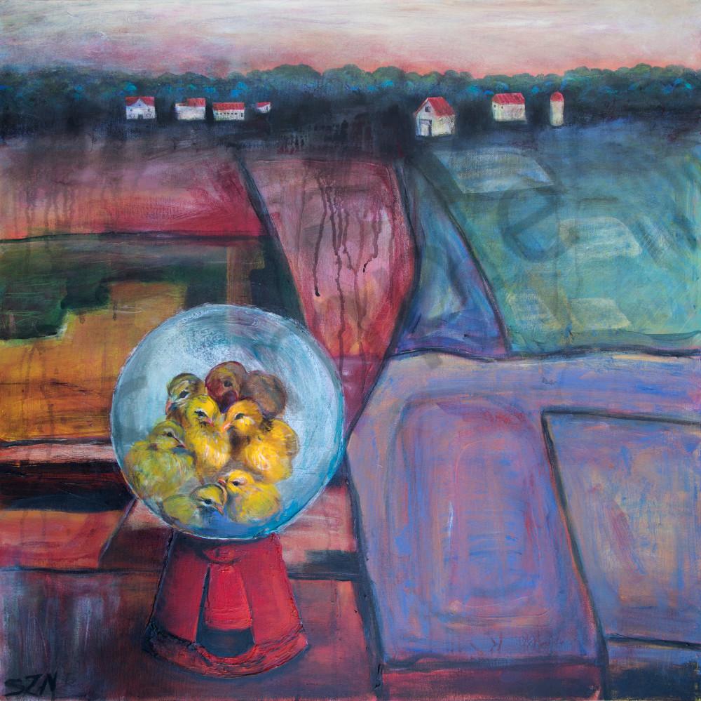Zippity Art Chicken Farm | Paintings and Prints by Susan Kraft