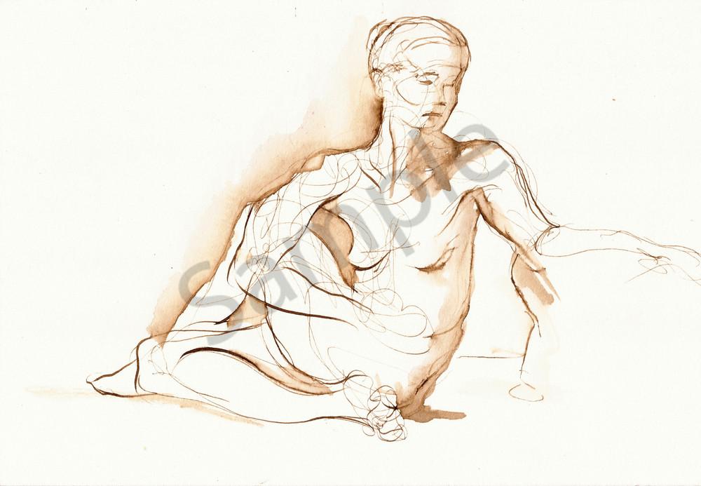 Yoga Pose Fine Art Drawing