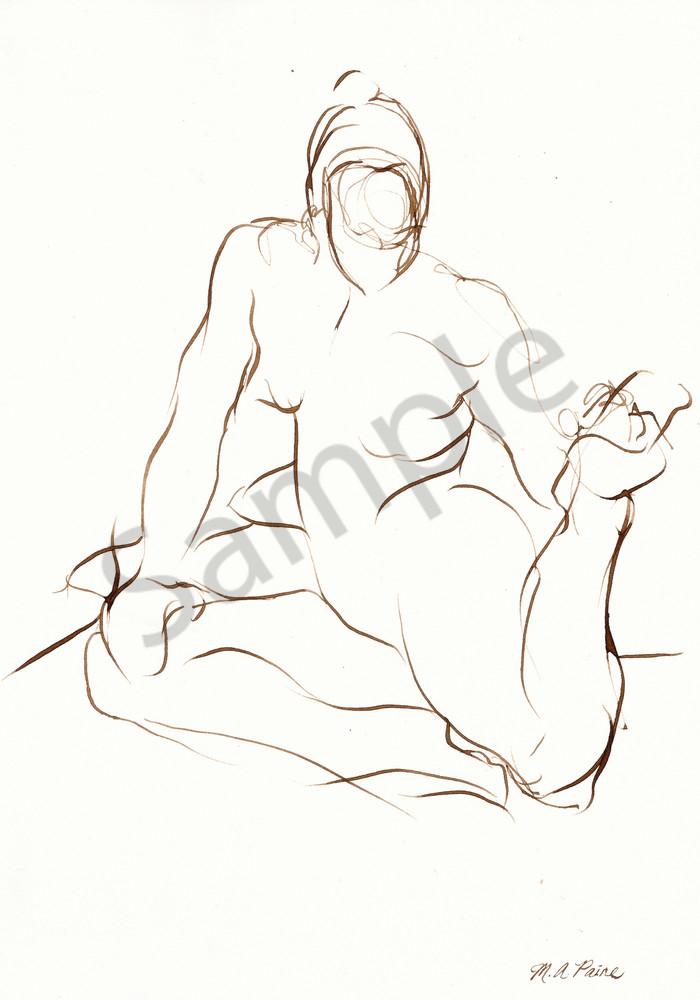 Yoga Pose Line Drawing