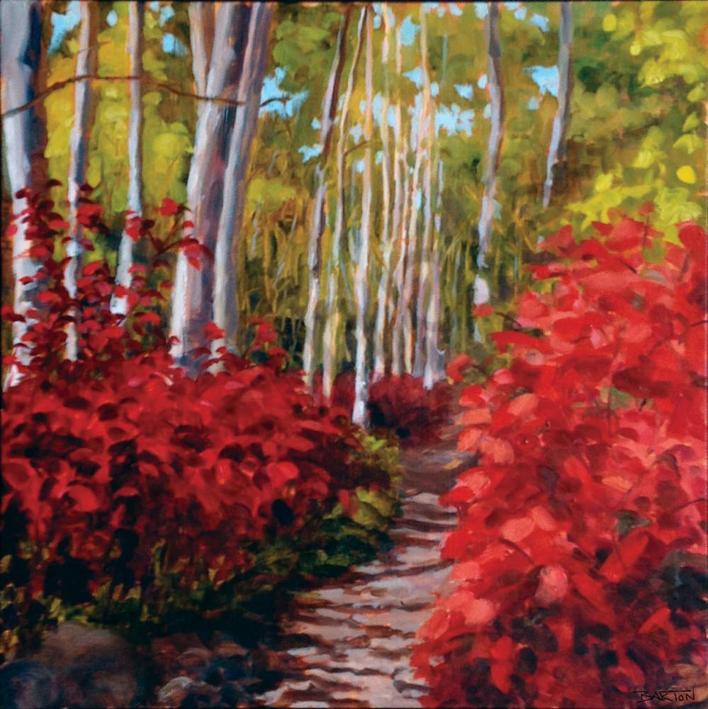 path, woods, fall