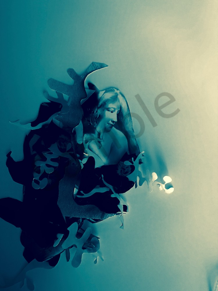 Odeta Xheka Visuals | Feminist art mixed media collage Print