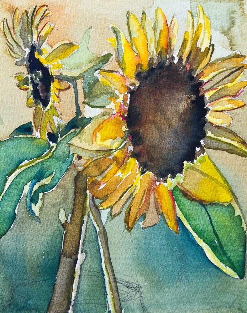 Big Sunflowers Fine Art Print