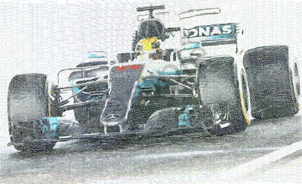 Lewis Hamilton art, f1 champions 2017,