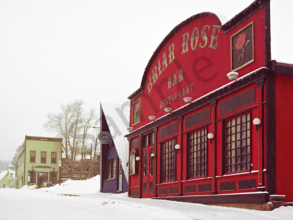 Fine Art photograph of the Briar Rose Rstaurant in Breckenridge, Colorado around 1980