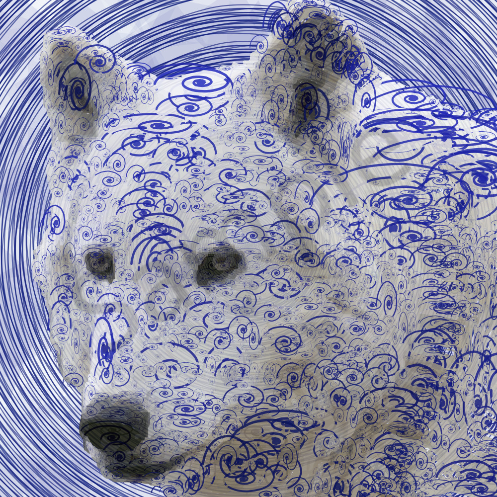 Cool Wolf  by Peter McClard. Wolf art, prints, posters at BrillianceGallery.com