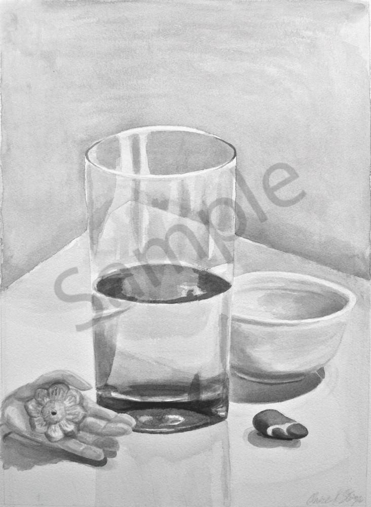 Same Same by Claire K Stringer Artist in Ink Wash