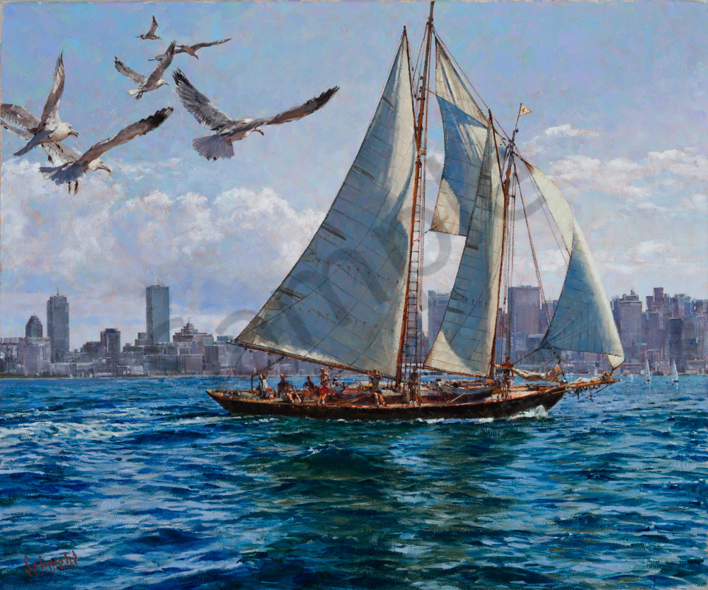 Boston Harbor Jaunt Art for Sale