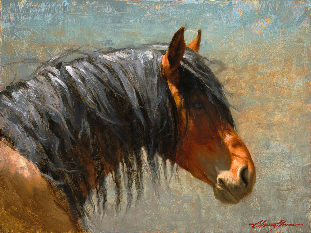 Windswept | Southwest Art Gallery Tucson | Horse Painting
