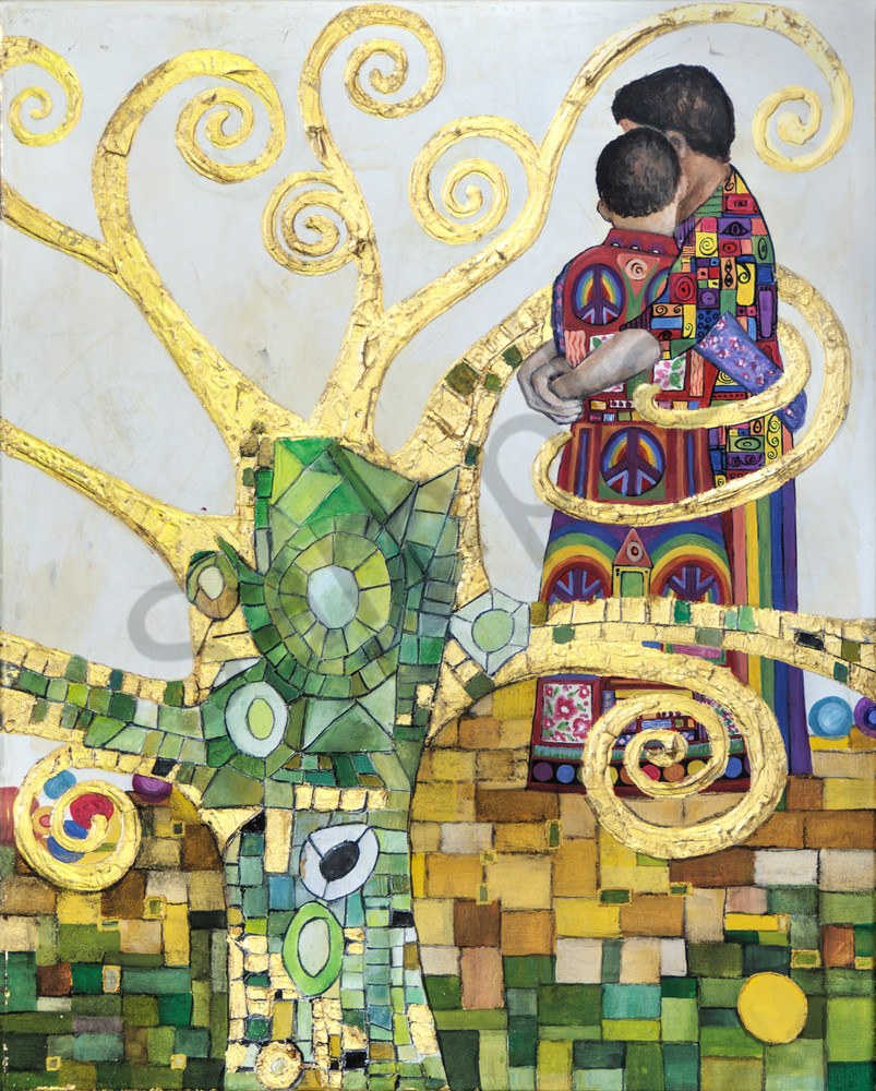 Designs by Teri | Teri Vereb Fine Art Paintings | Embracing Love Two | Klimt
