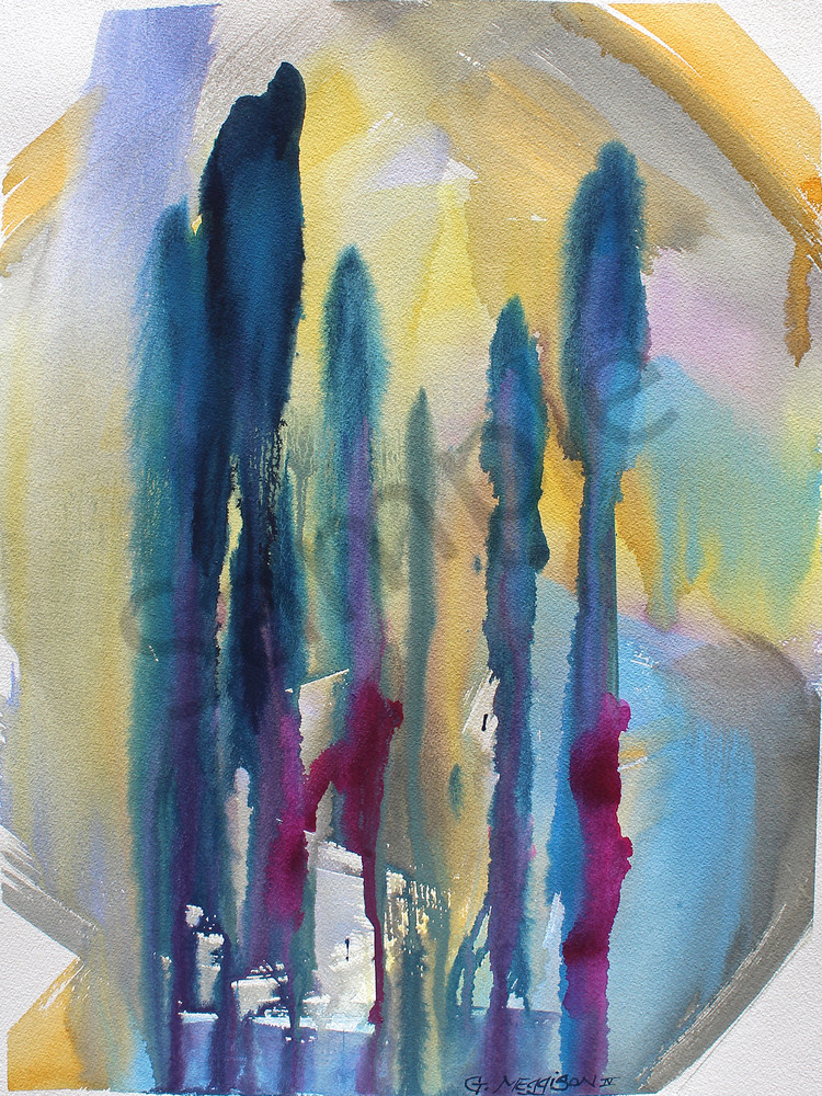 Flowering Mysteries 1 | Abstract Watercolors | Gordon Meggison IV