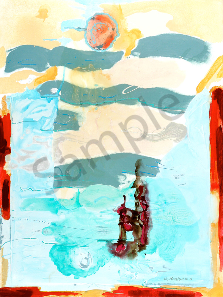 Flight of Icarus   Abstract Acrylic Mixed Media   Gordon Meggison IV