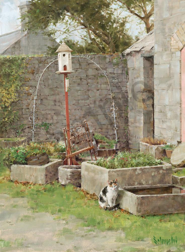 Courtyard Kitty Art for Sale