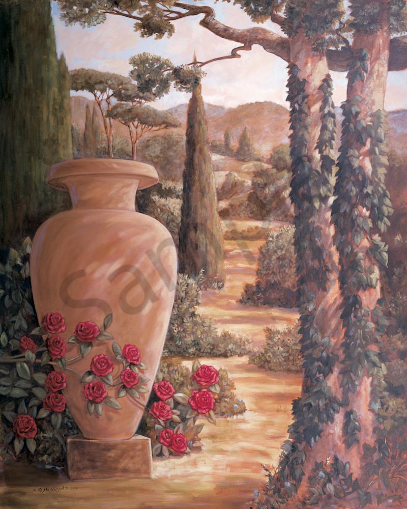 Italian Urn 1 | Murals in Classical Style | Gordon Meggison IV