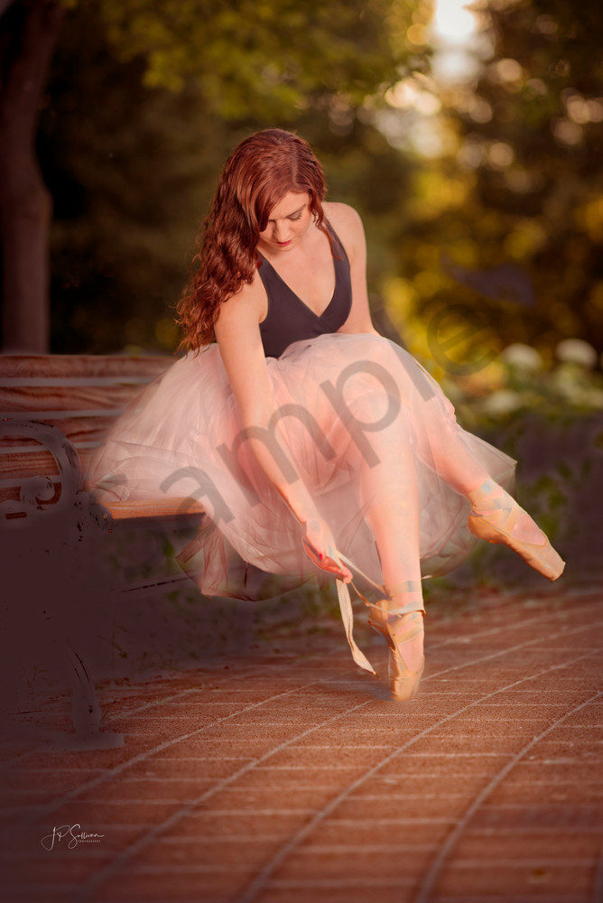 Beautiful and talented ballerina Jennifer poses for Recital in The Park - Fine Art Photography - dancer - model