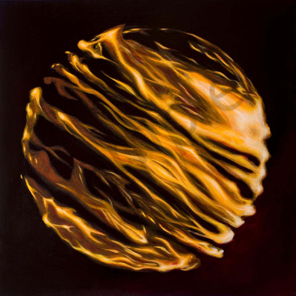 Fire Globe Black Art | FireFlower Art
