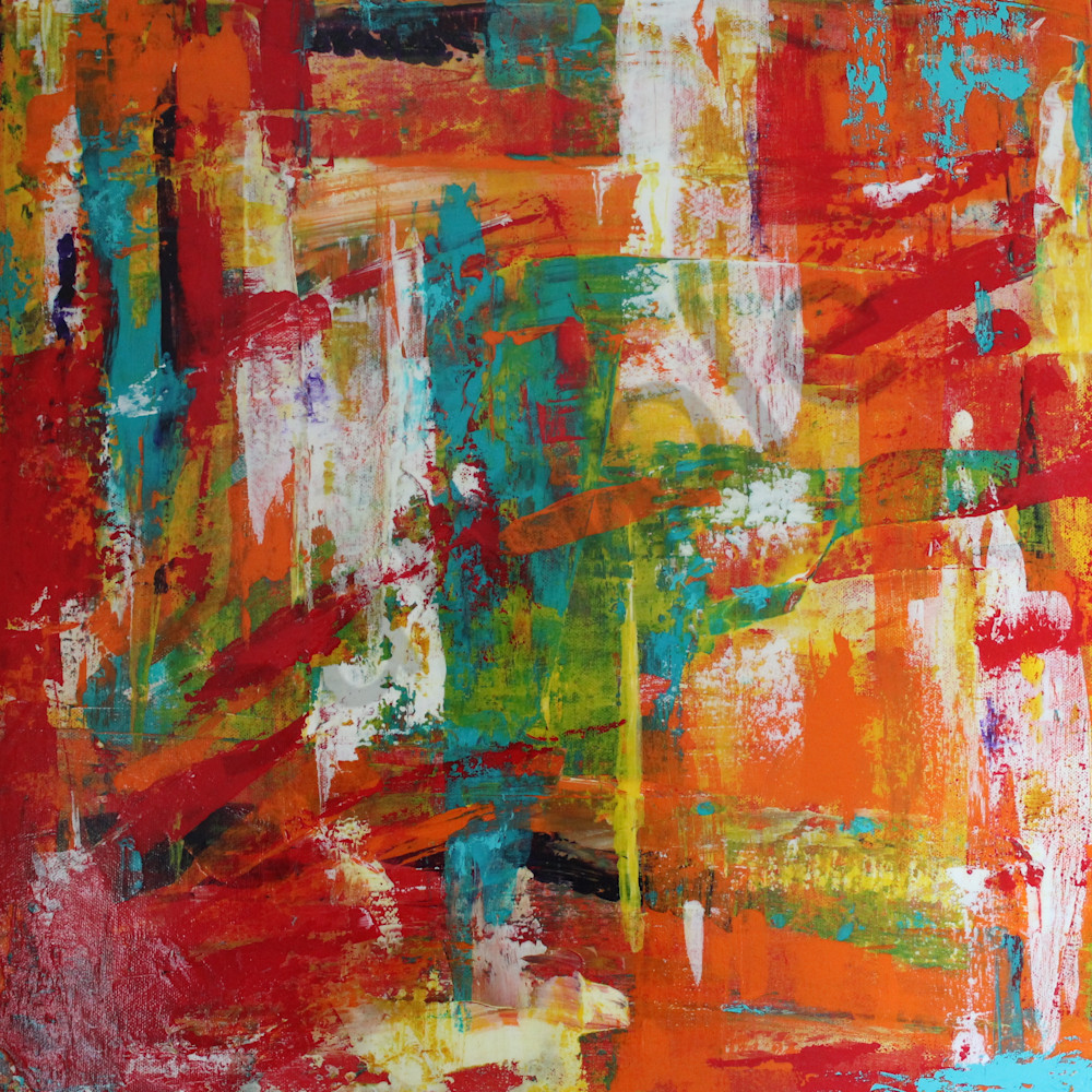 art-wall|yellow-and-orange-paintings|Lesley Koenig