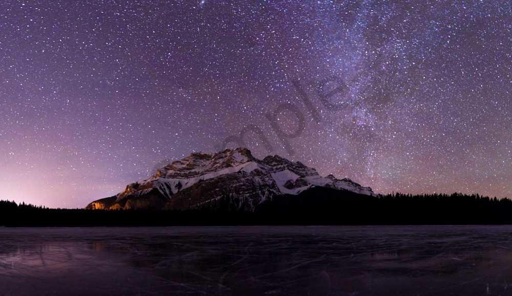 Stars over Two Jack Lake Photograph for Sale as Fine Art