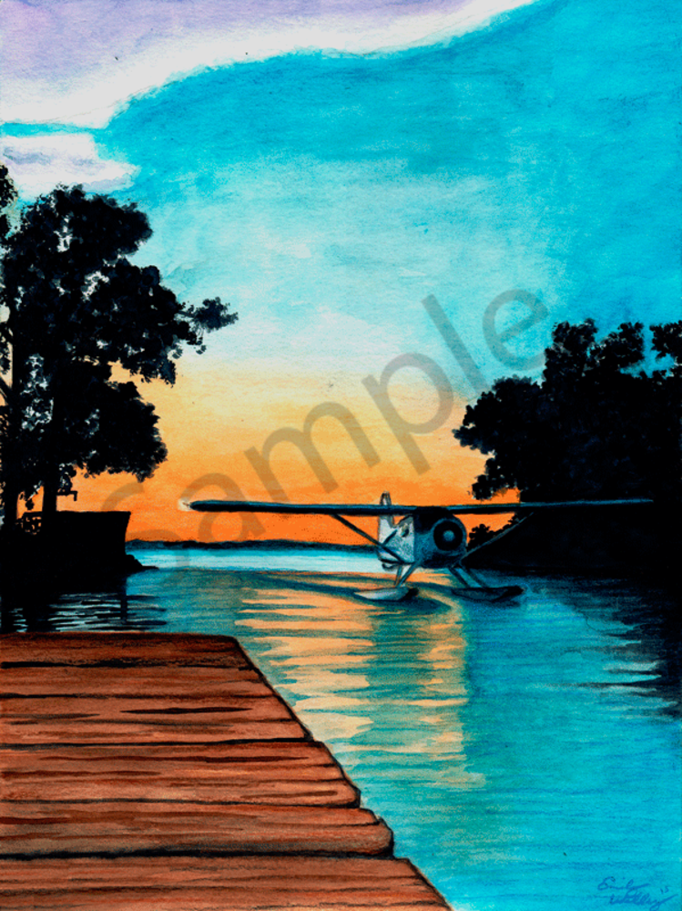 Sunset arrival fine art print by Emily Willey.